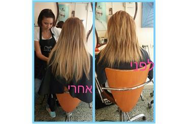 תוספות שיער ממעצב שיער זאב לוין תל אביב